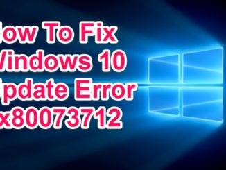 fix 0x80073712 windows 10 error