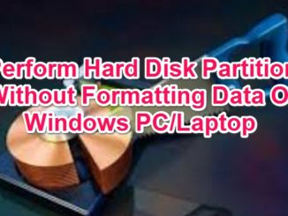 partition hard disk without losing data on windows