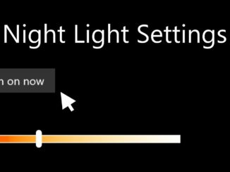 enable night light mode windows 10