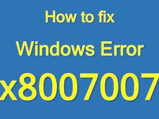 fix windows error 0x80070070