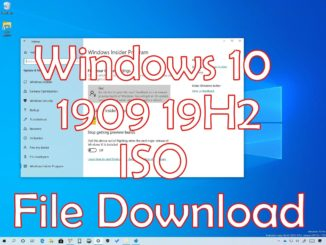 Windows 10 1909 19H2 iso Download Language Pack